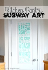 Kitchen Pantry Subway Art on www.girllovesglam.com