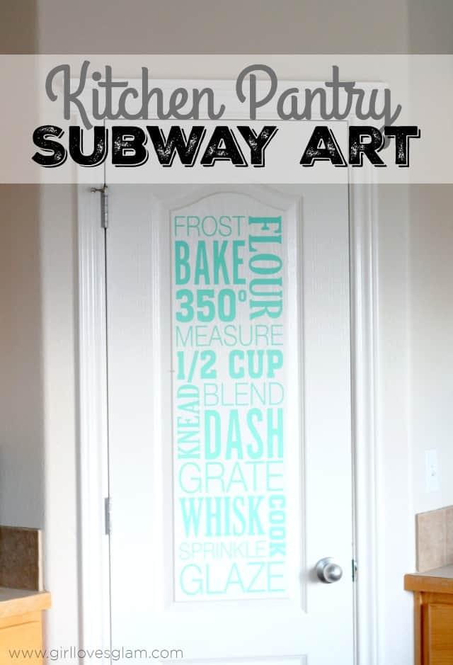 Kitchen Pantry Subway Art on www.girllovesglam.com