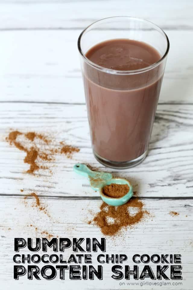 Pumpkin Chocolate Chip Cookie Protein Shake on www.girllovesglam.com