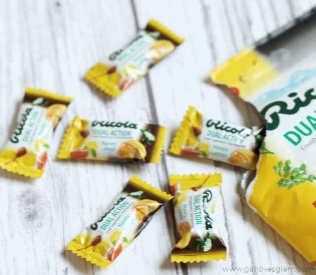 Ricola Dual Action Honey Lemon Drops on www.girllovesglam.com #SwissHerbs