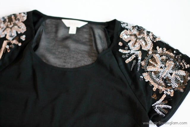 Sequin Top from JCPenney on www.girllovesglam.com