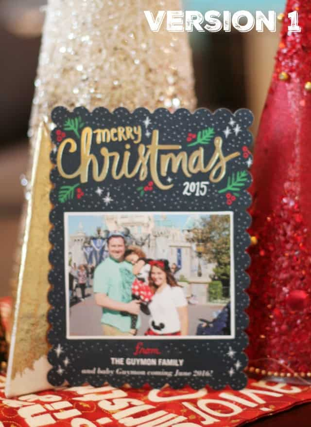 Shutterfly Christmas Pregnancy Card