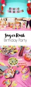 Sugar Rush Birthday Party on www.girllovesglam.com