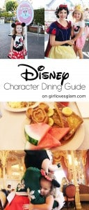 Disney Character Dining Guide on www.girllovesglam.com