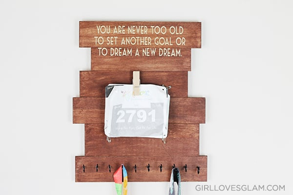 Race Bib and Medal Display Board on www.girllovesglam.com