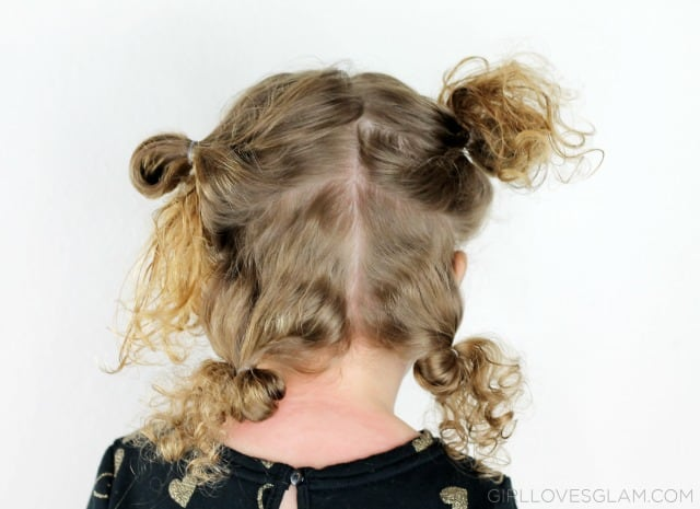 Easy Little Girl Hairstyle on www.girllovesglam.com