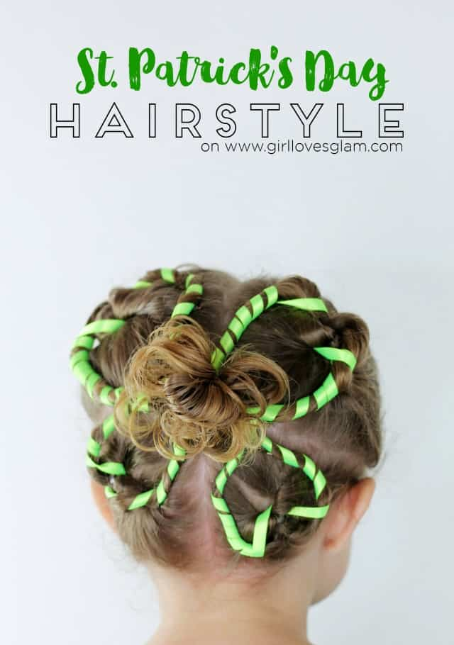 Four Leaf Clover St. Patrick's Day Hairstyle on www.girllovesglam.com