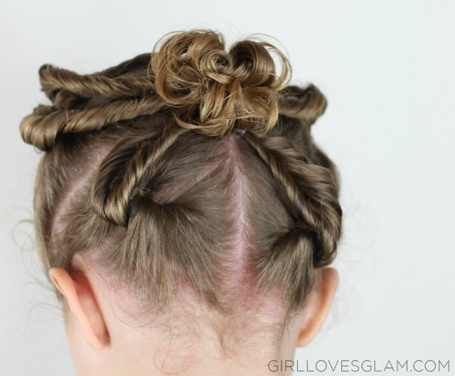 Little Girl Hairstyle Tutorial on www.girllovesglam.com