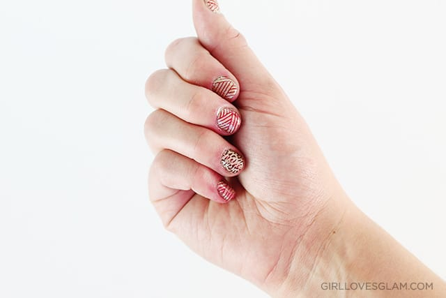 Stamped nail art tutorial on www.girllovesglam.com