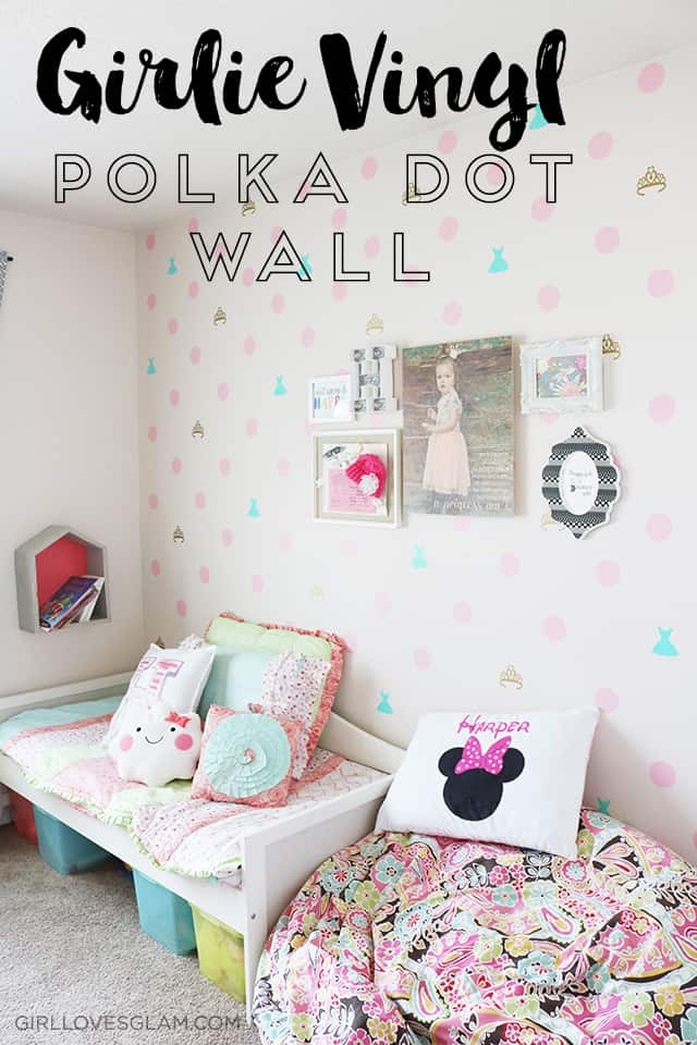 girlie vinyl polka dot wall on www.girllovesglam.com
