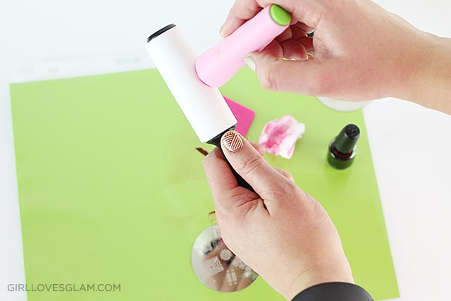 How to do stamped nail art on www.girllovesglam.com