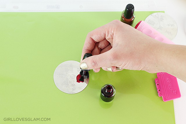 How to use nail stamps girl loves glam how to do nail polish stamps on girllovesglam prinsesfo Images