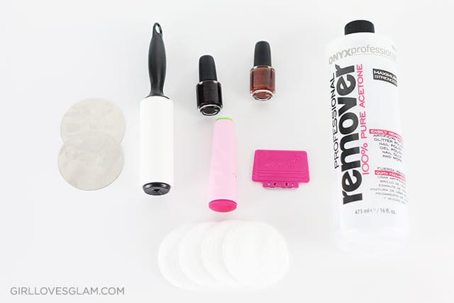 Things needed to use nail stamps on www.girllovesglam.com