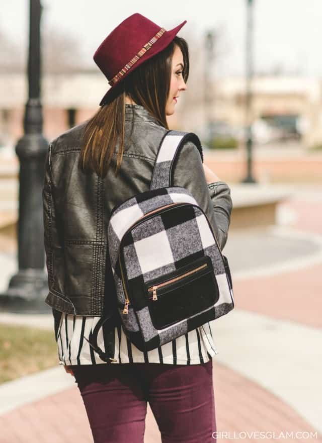 Casual Winter Style with backpack on www.girllovesglam.com
