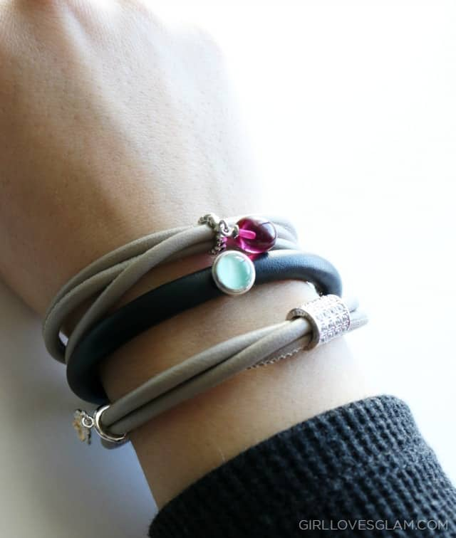 Leather Charm Bracelets on www.girllovesglam.com