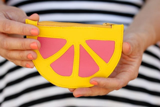 Spring Citrus Coin Purse