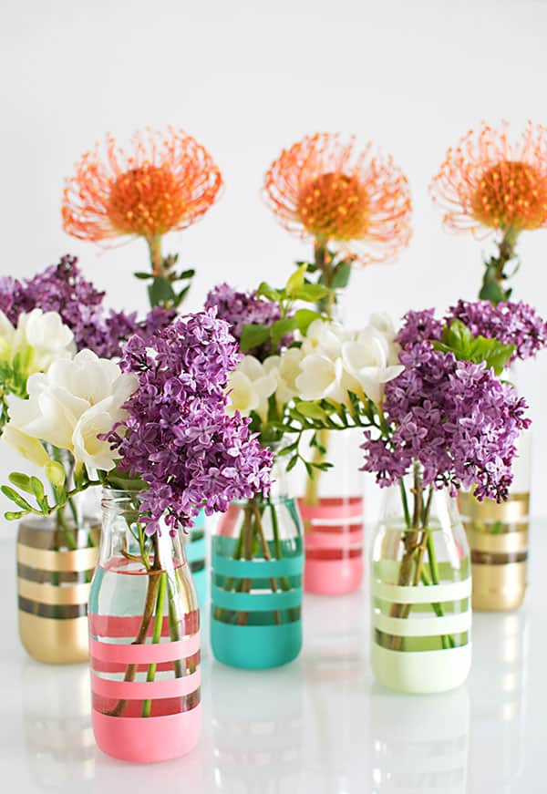 Spring DIY Painted Bottles