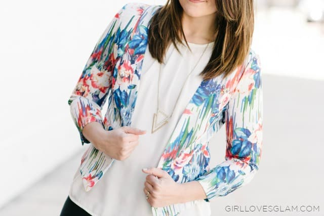 Spring Floral Blazer on www.girllovesglam.com