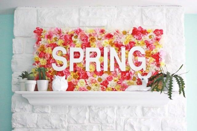 Spring Floral Mantel