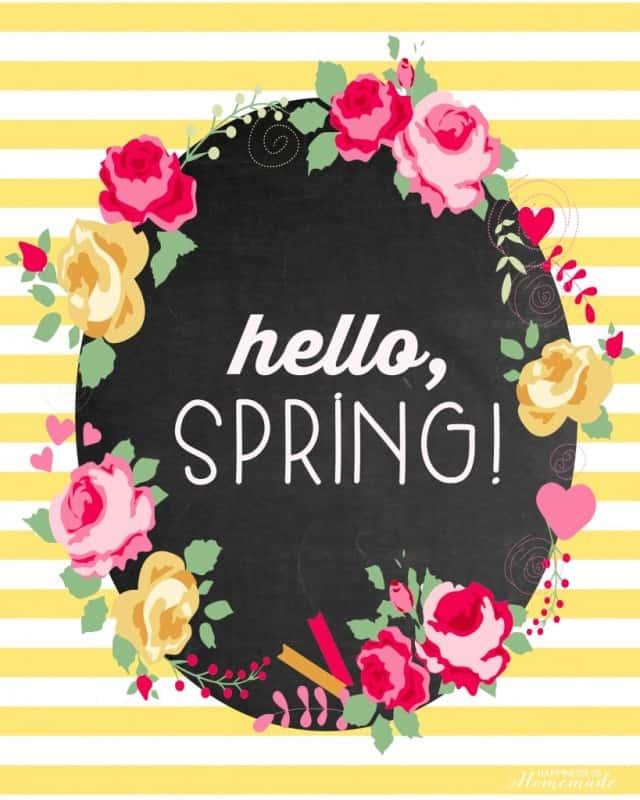 Spring Free Printable Hello Spring