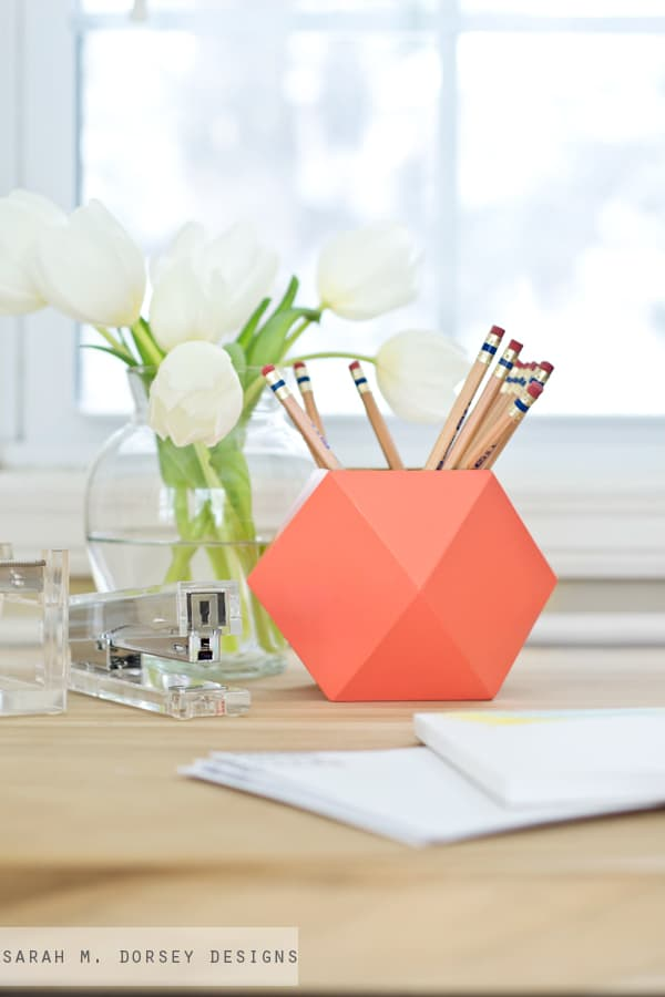 Spring Geometric Pencil Case
