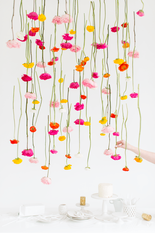 Spring Hanging Flower DIY