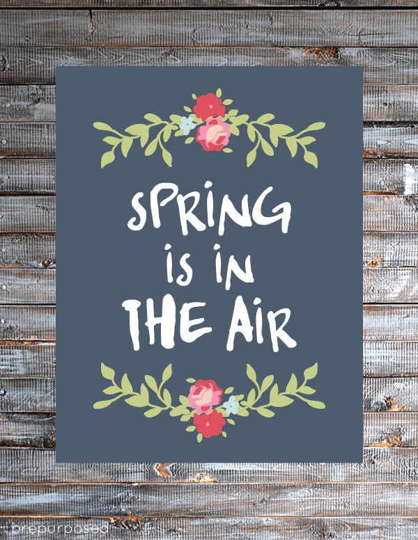 Spring is in the air printable