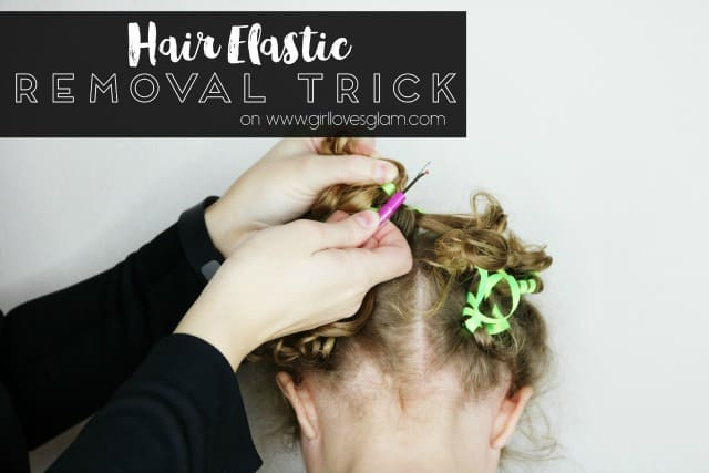 Hair Elastic Removal Trick Life Hack on www.girllovesglam.com
