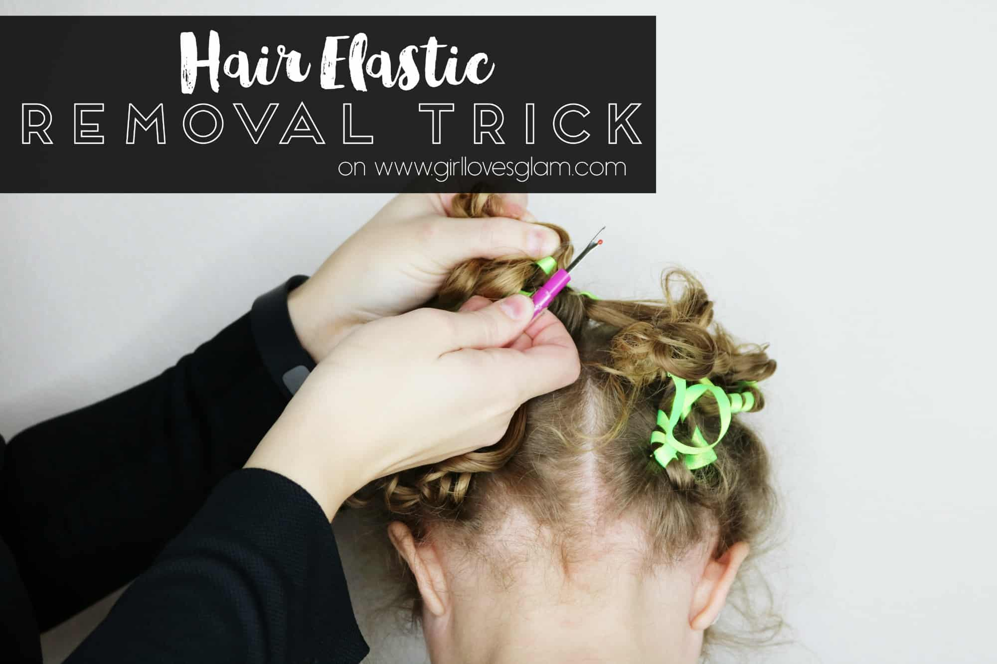 youtube hair elastic removal trick