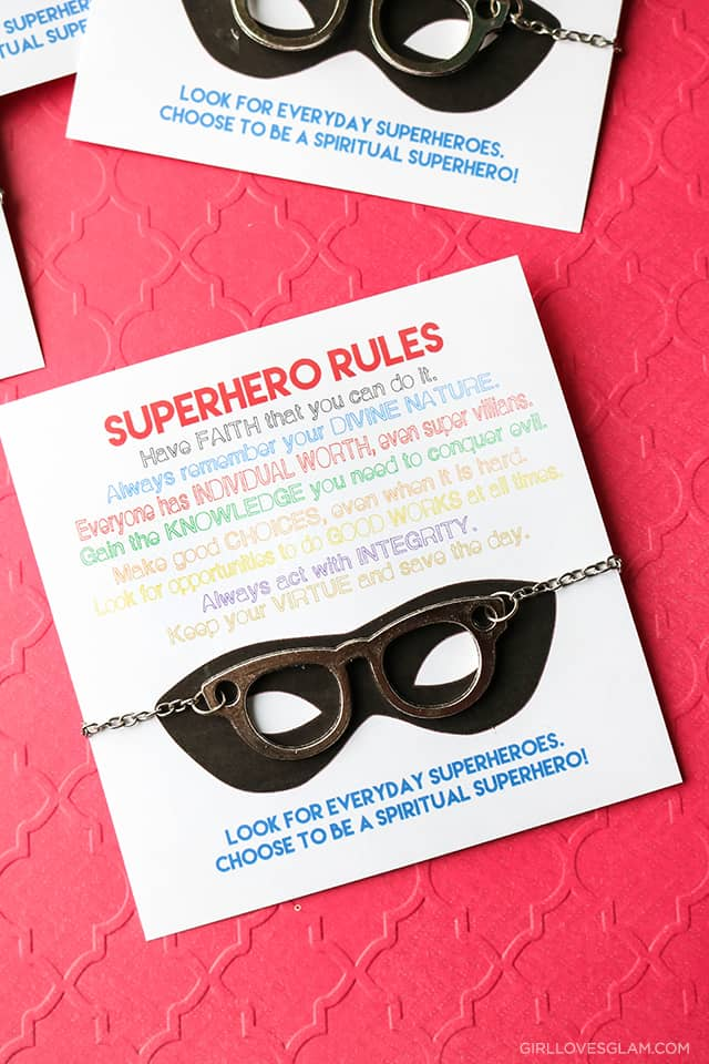 YW Printable Superhero Values Printable on www.girllovesglam.com
