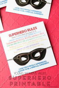 YW Values Superhero Printable on www.girllovesglam.com