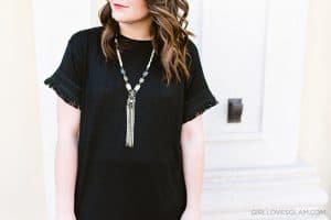 Black Fringe Top on www.girllovesglam.com