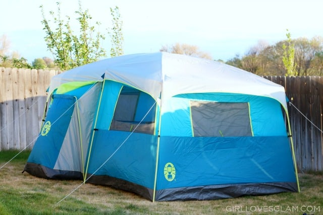 Coleman 8 Man Tent with Closet on www.girllovesglam.com