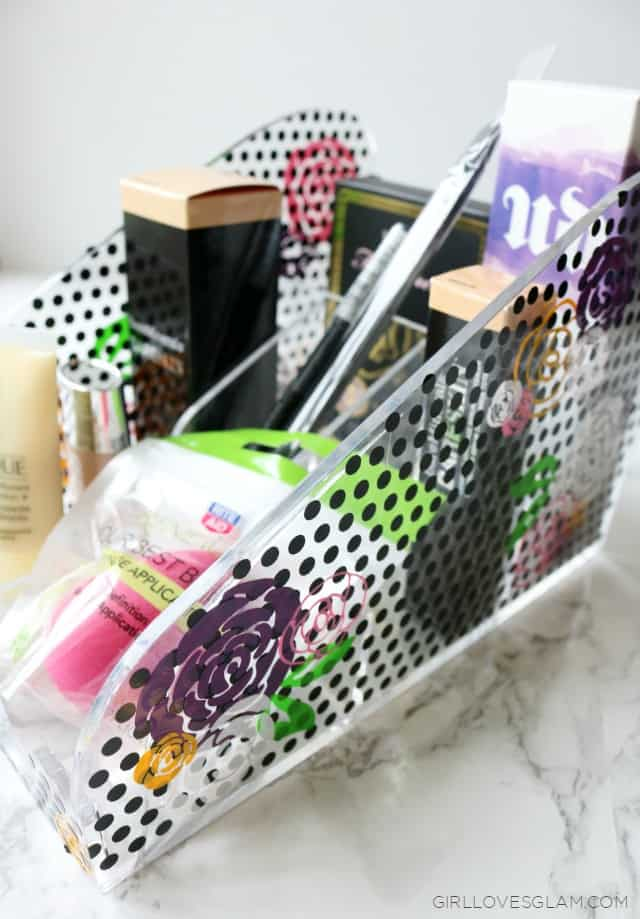 DIY Makeup Organizer on www.girllovesglam.com