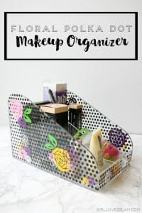Floral Polka Dot Makeup Organizer on www.girllovesglam.com