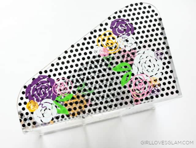 Vinyl Polka Dots and Flowers on www.girllovesglam.com