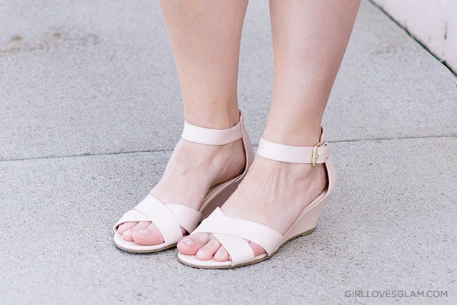 Payless Nude Wedge Sandals on www.girllovesglam.com