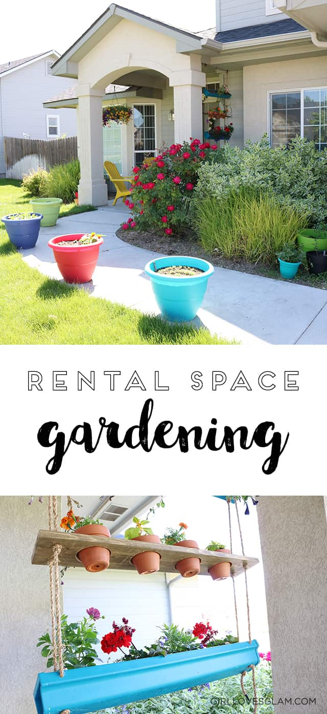 Girl loves glam rental space gardening front