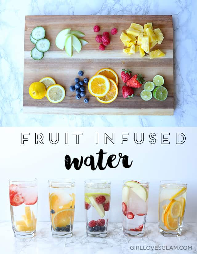 Fruit Infused Water Combinations on www.girllovesglam.com