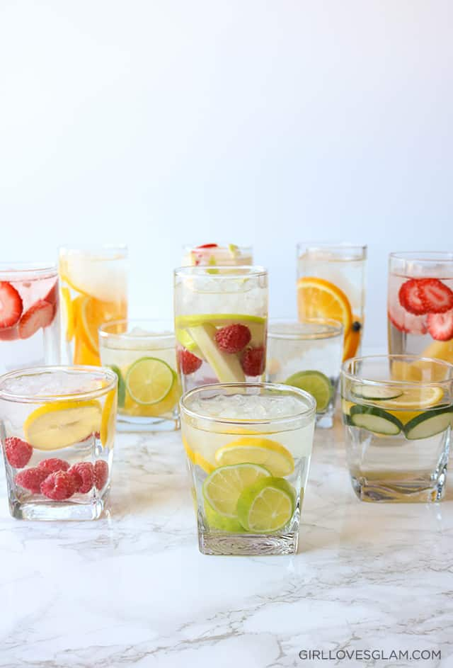 Infused Water Combinations on www.girllovesglam.com