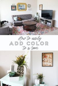 How to Easily Add Color to a Room on www.girllovesglam.com
