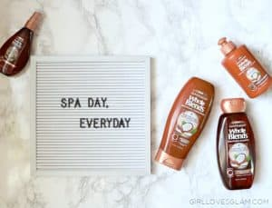 Spa Day Everyday with Garnier Whole Blends on www.girllovesglam.com
