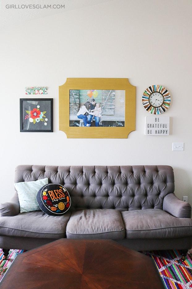 Living Room Reveal on www.girllovesglam.com
