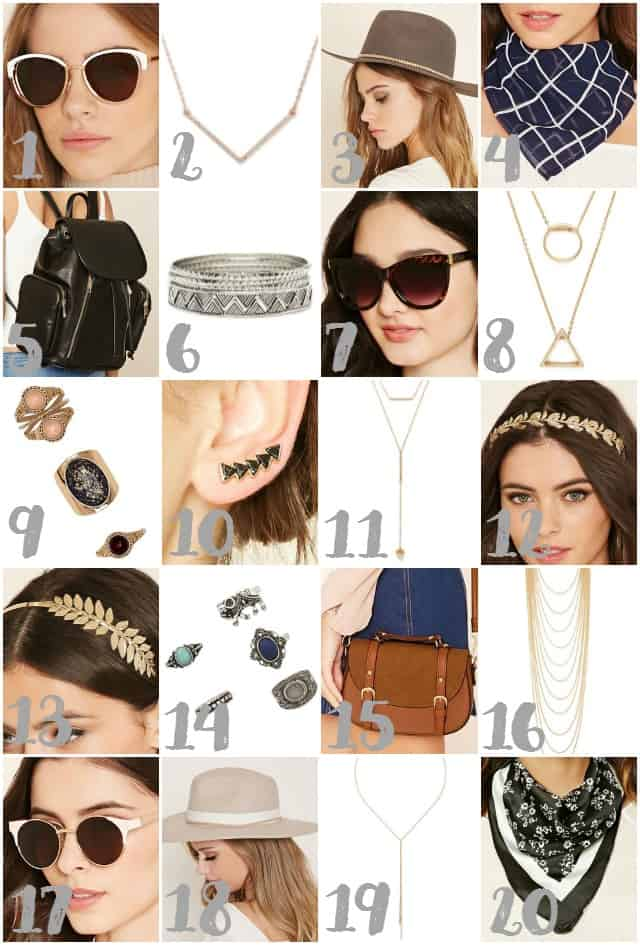 Accessories from Forever 21 on www.girllovesglam.com