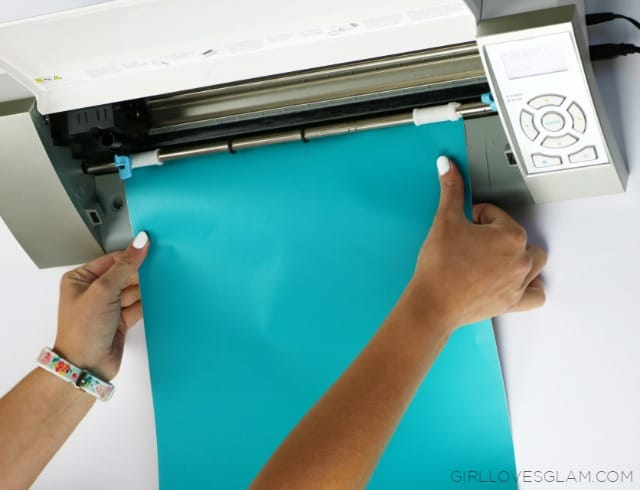 Cutting Vinyl Without Silhouette Mat on www.girllovesglam.com