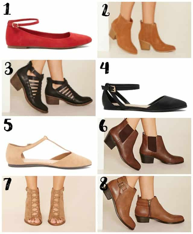 Fall Shoes from Forever 21 on www.girllovesglam.com