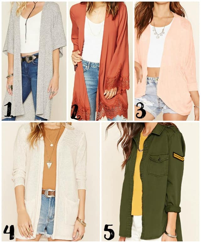 Jackets and Cardigans from Forever 21 on www.girllovesglam.com