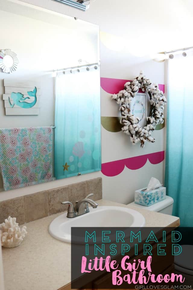 mermaid inspired little girl bathroom on wwwgirllovesglamcom - Girls Bathroom