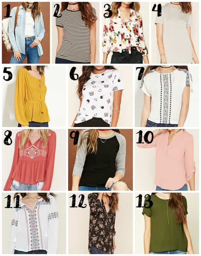 Modest Tops at Forever 21 on www.girllovesglam.com