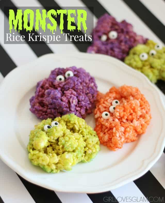 Monster Rice Krispie Treats - Girl Loves Glam